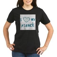 I Heart / Love My Fiancé Organic Women's T-Shirt (dark)