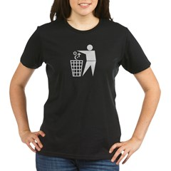 Trash Religion 3 black 2 (png) Organic Women's T-Shirt (dark)