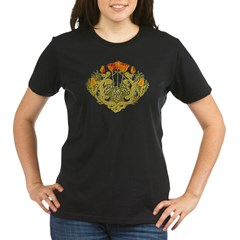 Medieval Floral Organic Women's T-Shirt (dark)