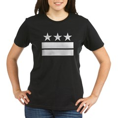 3 Stars 2 Bars Organic Women's T-Shirt (dark)