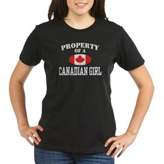 Property of a Canadian Girl Organic Women's T-Shirt (dark)