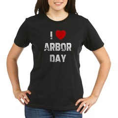 I * Arbor Day Organic Women's T-Shirt (dark)