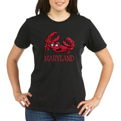 Maryland Crab Organic Women's T-Shirt (dark)