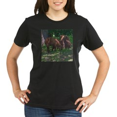 takin calf Organic Women's T-Shirt (dark)