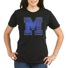 M Go Blue Organic Women's T-Shirt (dark)