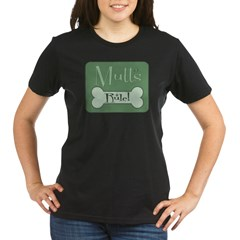 Mutts Rule Green Organic Women's T-Shirt (dark)