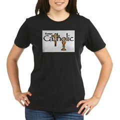 Proud to be Catholic Organic Women's T-Shirt (dark)