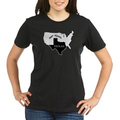 Texas / Not Texas Organic Women's T-Shirt (dark)