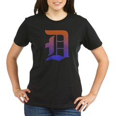 Olde English D Women's + Size Scoop Neck Dark Tee Organic Women's T-Shirt (dark)