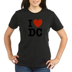 I Love DC Organic Women's T-Shirt (dark)