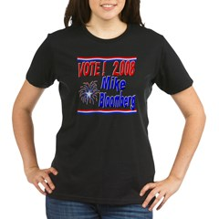 Vote Mike Bloomberg Organic Women's T-Shirt (dark)