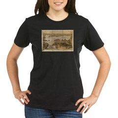 San Francisco and surrounding Organic Women's T-Shirt (dark)
