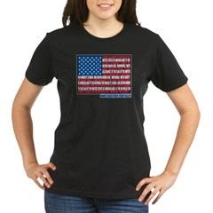 Flag Pledge of Allegiance Organic Women's T-Shirt (dark)
