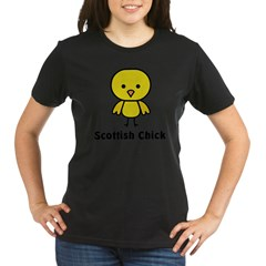 Scottish Chick Organic Women's T-Shirt (dark)
