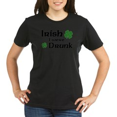 Irish I were Drunk Organic Women's T-Shirt (dark)