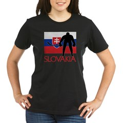 Slovak Hockey Organic Women's T-Shirt (dark)