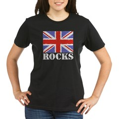 Britain Rocks Organic Women's T-Shirt (dark)