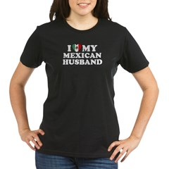 I Love My Mexican Husband Organic Women's T-Shirt (dark)