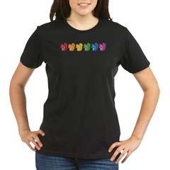 Rainbow Squirrels Organic Women's T-Shirt (dark)