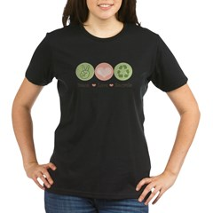 Recycling Peace Love Recycle Organic Women's T-Shirt (dark)