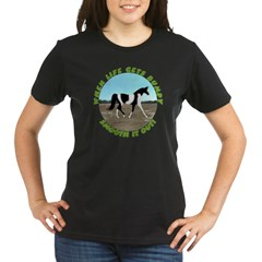 Pinto Fox Trotter Organic Women's T-Shirt (dark)