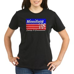 Minnifield in '08 Organic Women's T-Shirt (dark)