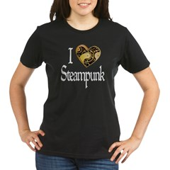 Heart Steampunk Organic Women's T-Shirt (dark)