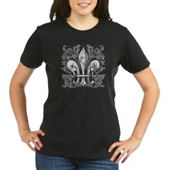 French Fleur-de-lis Organic Women's T-Shirt (dark)