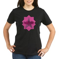 Daddy's Girl (Star) Organic Women's T-Shirt (dark)