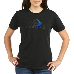 Disc Golf 3 Organic Women's T-Shirt (dark)
