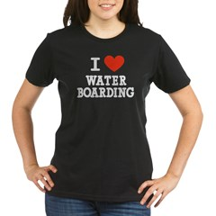 I Love Water Boarding Organic Women's T-Shirt (dark)