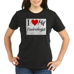 I Heart My Toxicologis Organic Women's T-Shirt (dark)