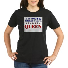 ALIVIA for queen Organic Women's T-Shirt (dark)