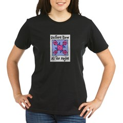 Quilters Know the Angles Organic Women's T-Shirt (dark)