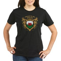Proud to be Welsh Organic Women's T-Shirt (dark)