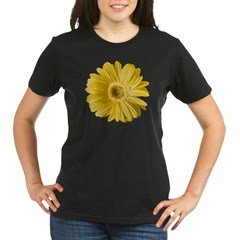 Pop Art Yellow Daisy Organic Women's T-Shirt (dark)