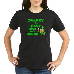Zakary Easy / Drunk (A) Organic Women's T-Shirt (dark)
