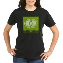 Chilcomb Down Crop Circle Organic Women's T-Shirt (dark)