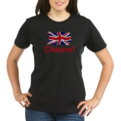 British Cheers! Organic Women's T-Shirt (dark)