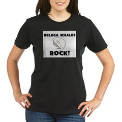 Beluga Whales Rock! Organic Women's T-Shirt (dark)