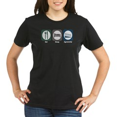 Eat Sleep Agronomy Organic Women's T-Shirt (dark)