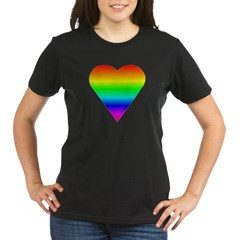 Trippy Heart 5 Organic Women's T-Shirt (dark)