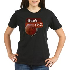 Think Red Colonize Mars Organic Women's T-Shirt (dark)