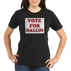 Vote for DALLIN Organic Women's T-Shirt (dark)