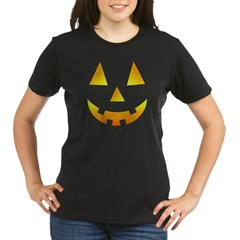 Halloween Baby Bump Organic Women's T-Shirt (dark)