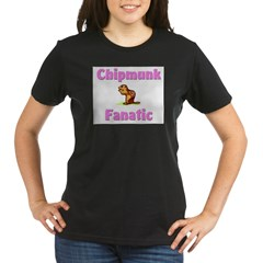 Chipmunk Fanatic Organic Women's T-Shirt (dark)