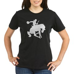 Bucking Bronc Cowboy Organic Women's T-Shirt (dark)