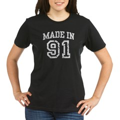 Made in 91 Organic Women's T-Shirt (dark)