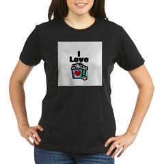 I Love Popcorn Organic Women's T-Shirt (dark)