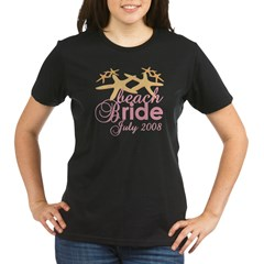 July Beach Bride 2008 Organic Women's T-Shirt (dark)